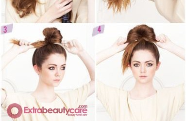 How to Make Bun Updo Hairstyle
