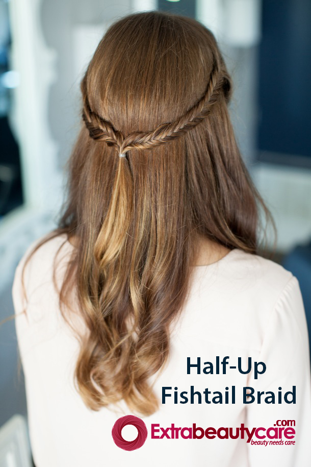 How To Make Half Up Fishtail Braid