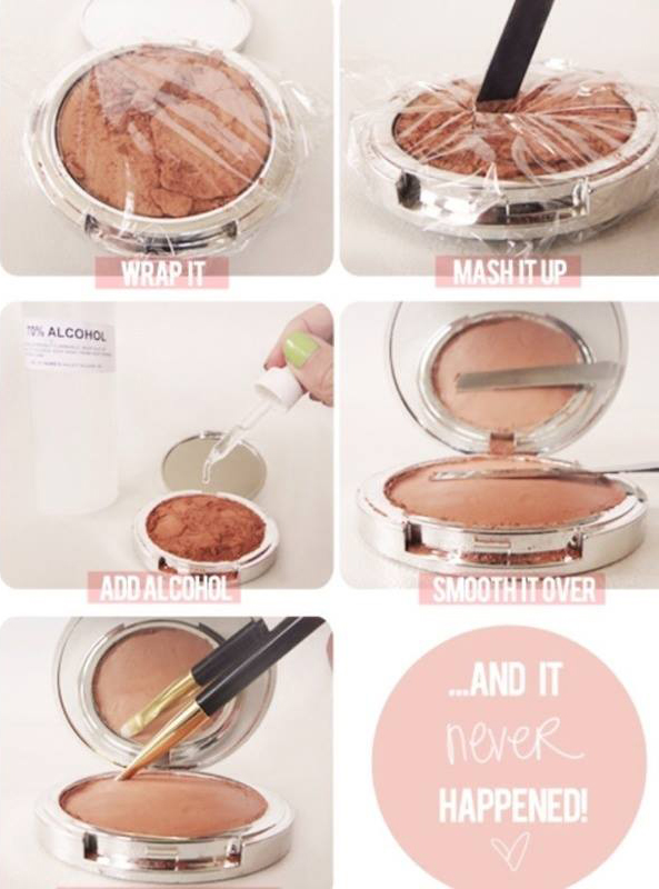 How to fix broken makeup kit