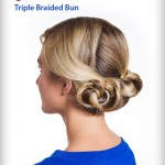 How to Make Triple Braided Bun Hairstyle