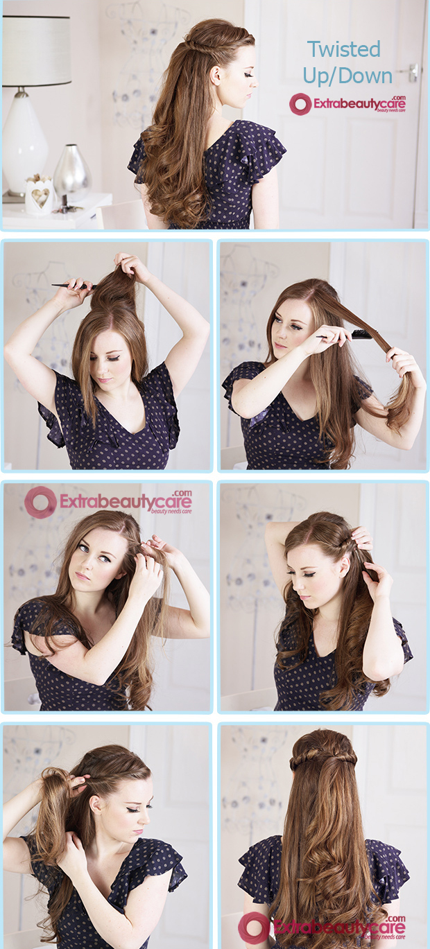 Twisted-Up-Down-hairstyle