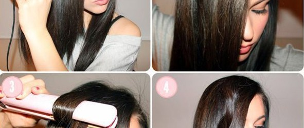 how to curl hair with straightener