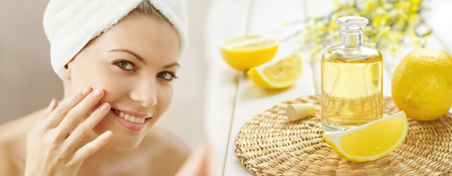 Lemon oil massage for beautiful skin