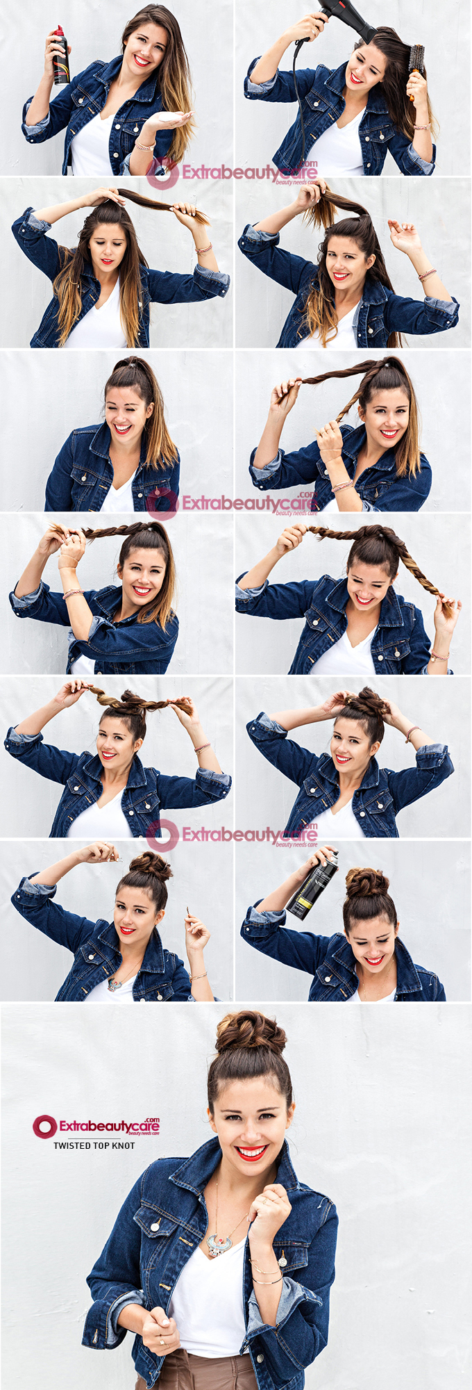 twisted top knot hairstyle