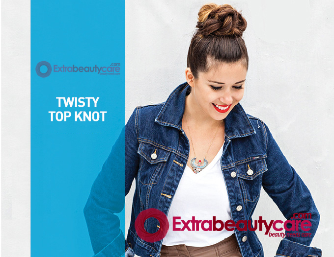 twisted to knot hairstyle